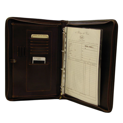 porta documenti ideale come raccoglitore in cuoio